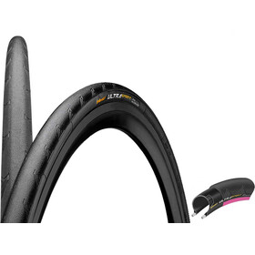 "Continental Ultra Sport II Performance Pneu 28"" pliable, black/pink"